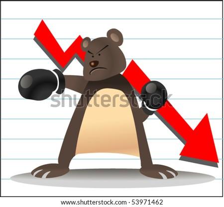 bear in share market - stock vector