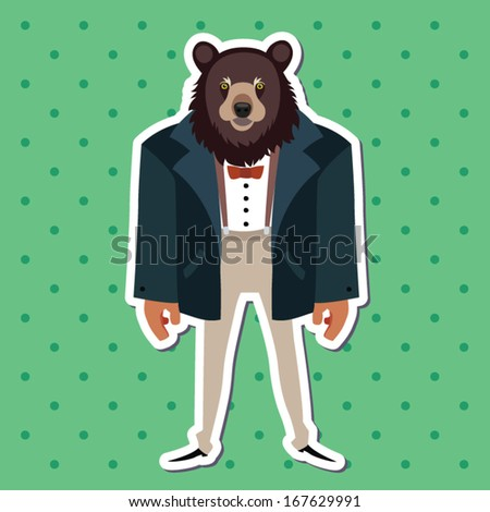 Bear in suit