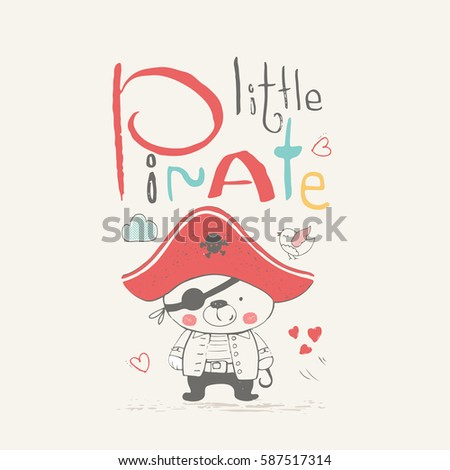 Bear little pirate hand drawn vector stock vector 587517314 bear little pirate hand drawn vector stock vector 587517314 shutterstock stopboris Gallery