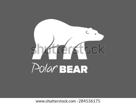 Bear, polar bear - stock vector