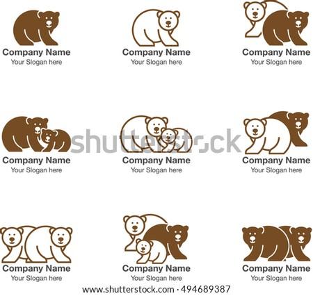 Bear Representation Template Company Logo Pictogram Stock Vector HD ...
