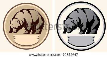 Bear schematic Illustration. - stock vector