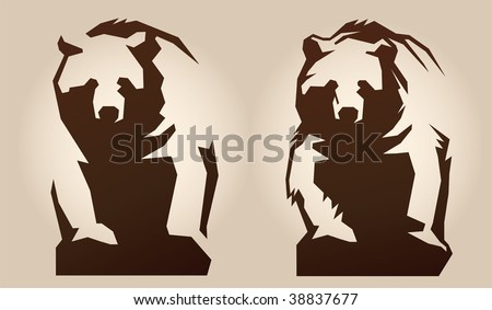 Bear. Schematically, generalized Illustration. - stock vector