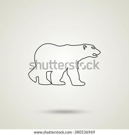 Bear silhouette. Flat illustration. - stock vector