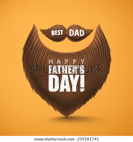 Beard and mustache, Happy Father's Day, eps 10 - stock vector
