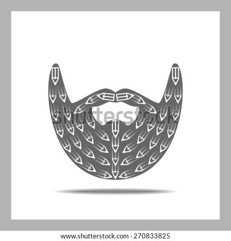 Beard Icon. Creation - stock vector