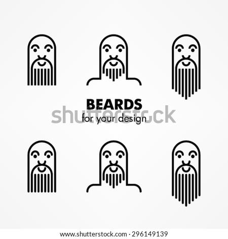 Beard icons - stock vector