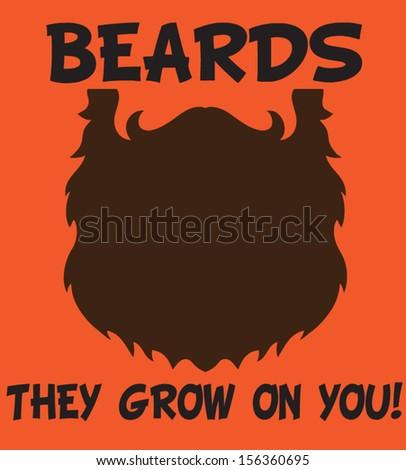 beards - stock vector
