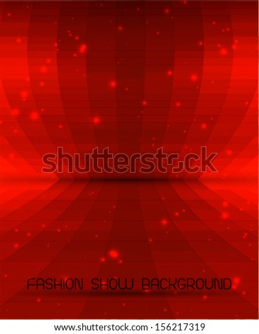 beautiful abstract background with dreamy vivid red color - stock vector