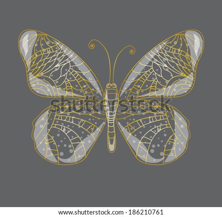 Beautiful abstract butterfly. - stock vector