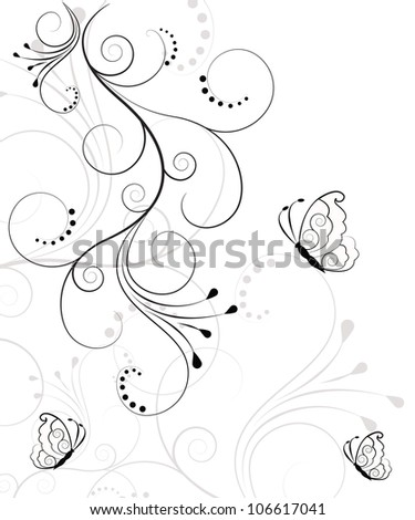 Beautiful, abstract floral background - stock vector