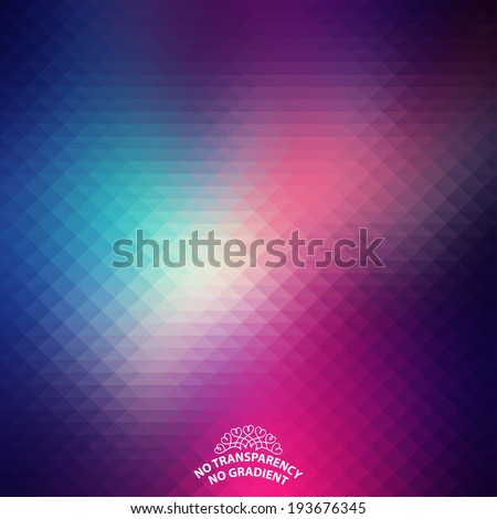 Beautiful abstract geometric style background with soft color tones. - stock vector