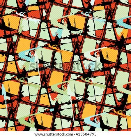 Beautiful abstract graffiti spots vector illustration of grunge texture - stock vector