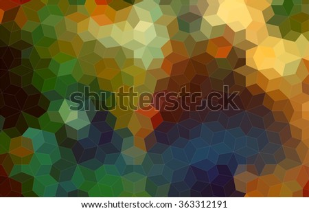 Beautiful abstract mosaic colorful background - stock vector