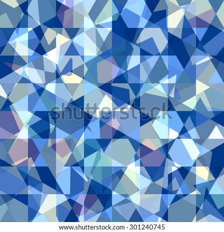 Beautiful abstract pattern. Geometric backdrop. Gem polygonal crystal texture. Blue abstract. - stock vector
