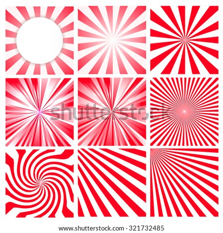 Beautiful abstract star burst background - stock vector