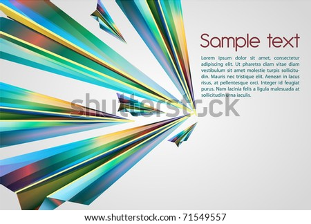 Beautiful abstract vector background with bright multicolor lines - stock vector