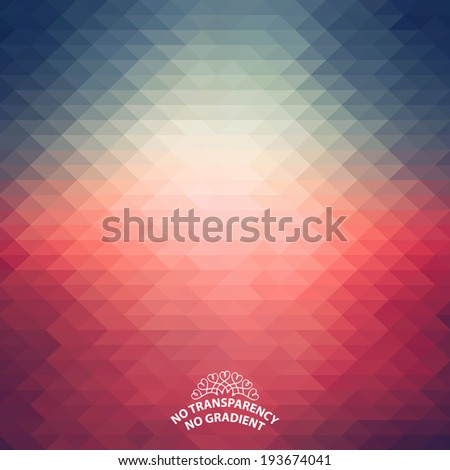 Beautiful abstract vintage style geometric background with soft color tones. - stock vector