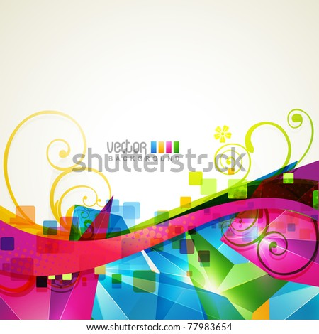 beautiful abstract wave shape background design - stock vector