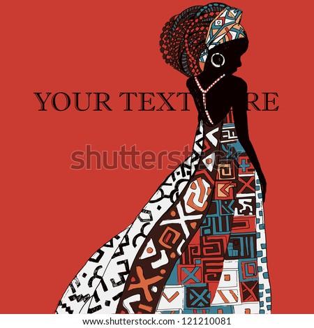 beautiful African woman - stock vector