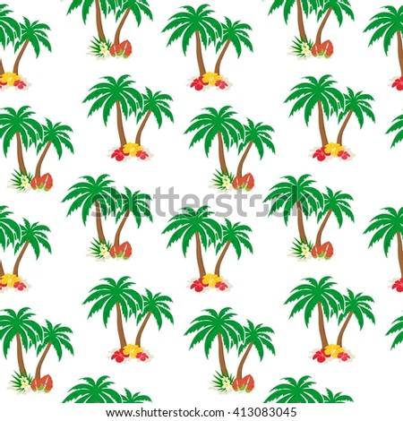beautiful and bright background on the theme of tropics.