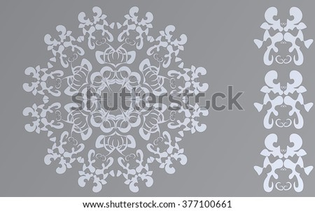 beautiful and elegant symmetrical gray patterns