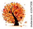 Beautiful autumn tree for your design - stock vector