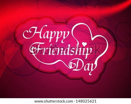 beautiful background design for friendship day. vector illustration