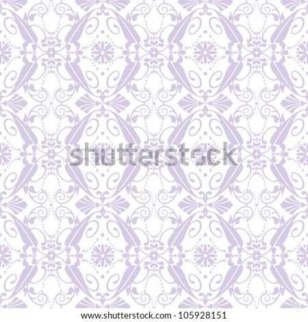 Beautiful background of seamless floral patten - stock vector