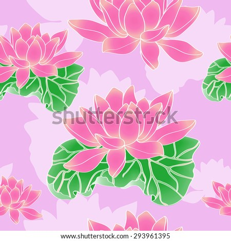 Beautiful background on a pink lotus - stock vector