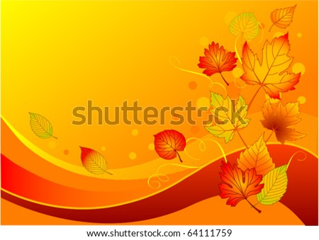 Beautiful background with colorful autumn leaves