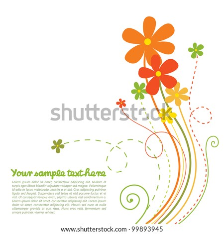 Beautiful background with spring flowers - stock vector