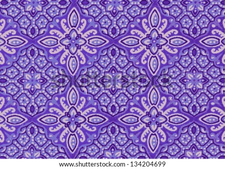 Beautiful batik patterns - stock vector