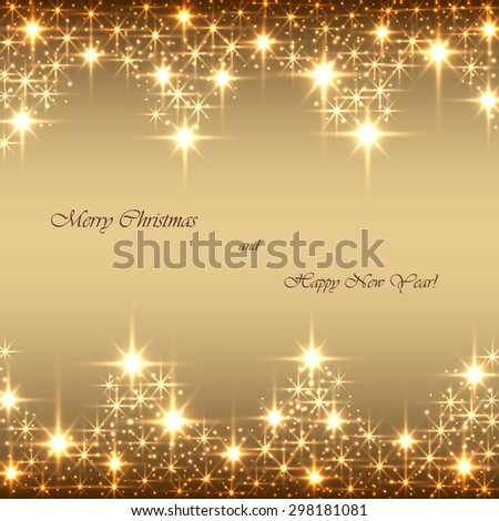 Beautiful beige background with sparkles .Vector  illustration