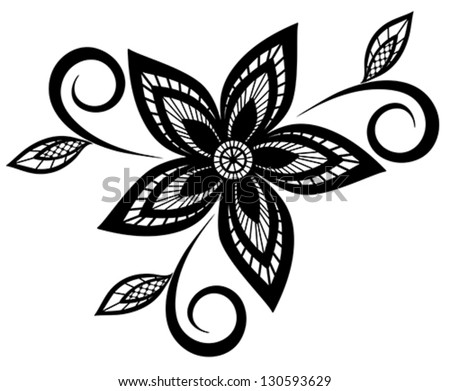 Beautiful Black And White Floral Pattern Design Element Many Similarities To The Authors