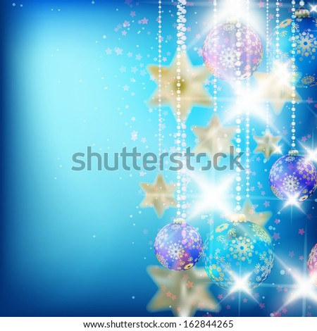 Beautiful blue christmas background with place for text. EPS10