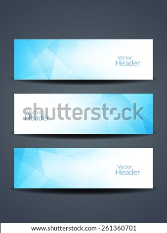 Beautiful blue color.vector header designs. - stock vector