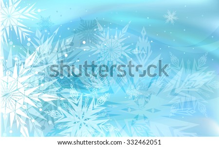 Beautiful blue winter background  - stock vector