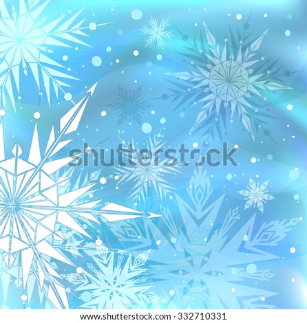 Beautiful blue winter background