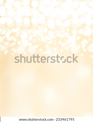 beautiful bright background with vanilla beige bokeh - stock vector
