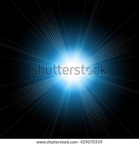 Beautiful bright lens flares. Lighting effects of flash. Easy to use. Star with lens flare and bokeh effect. - stock vector