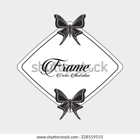 beautiful butterfly frame design, vector illustration eps10 graphic