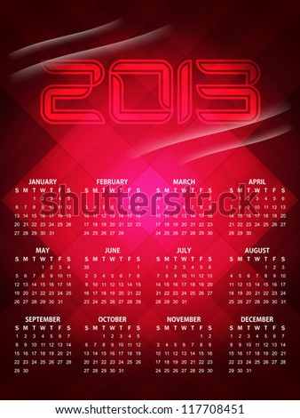 beautiful calendar design for 2013