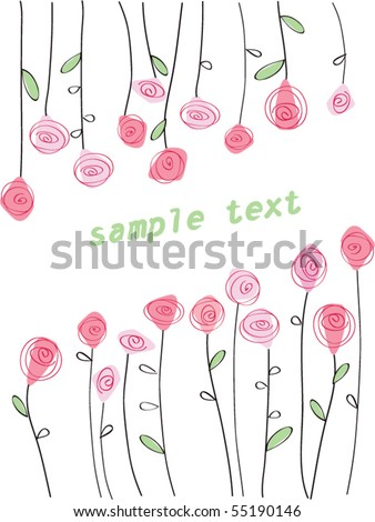 Beautiful card with roses. Vector illustration - stock vector