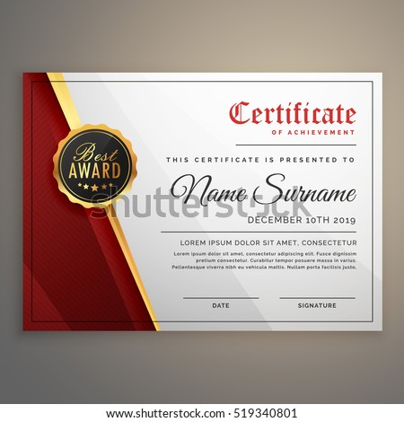 Certificate stock images royalty free images vectors shutterstock beautiful certificate template design with best award symbol yadclub
