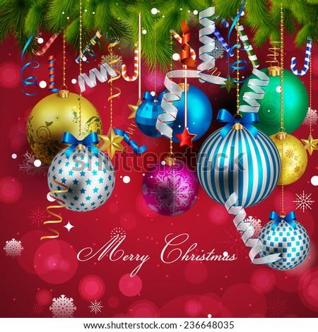 Beautiful christmas background - stock vector