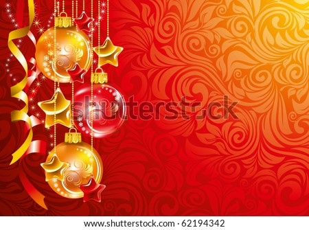 Beautiful Christmas background. Vector. - stock vector