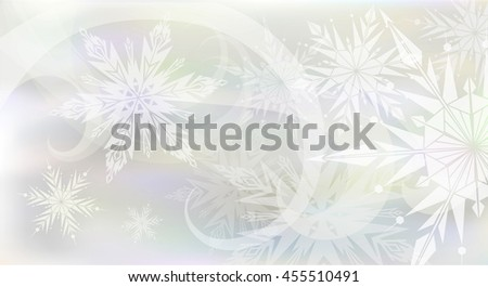 Beautiful Christmas background with light snowflakes