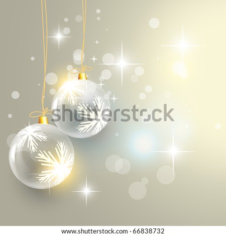 beautiful christmas balls background design - stock vector