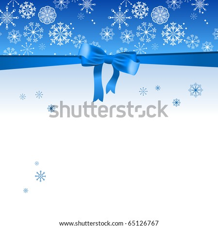 Beautiful Christmas blue background - stock vector
